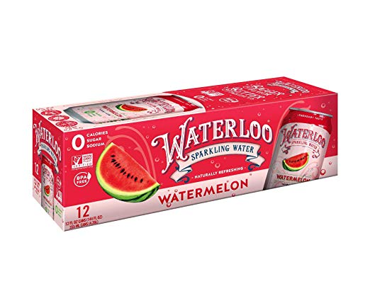 WATERLOO SPARKLING WATER: Water Sparkling Strawberry 12 Pack, 144 fo