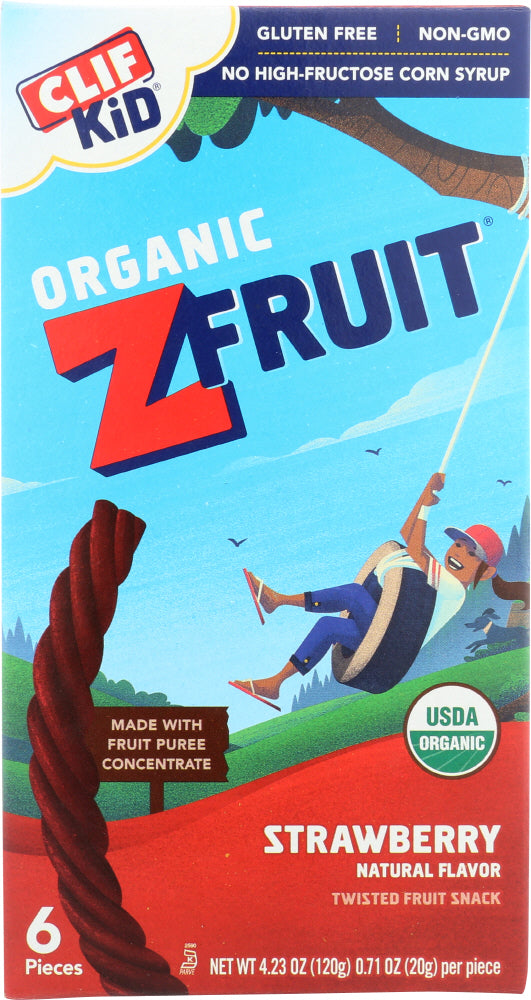 CLIF KID: Organic ZFruit Rope Strawberry 6 Pieces, 4.2 oz