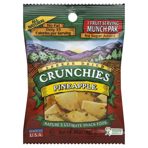 CRUNCHIES: Fruit Freeze Dried Pineapple Snacks. 0.33 oz
