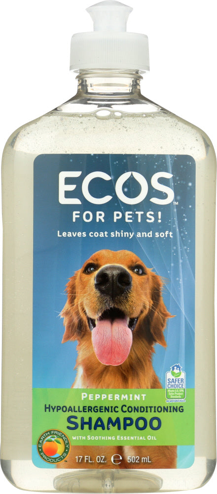 EARTH FRIENDLY: For Pets Shampoo Peppermint, 17 fl oz