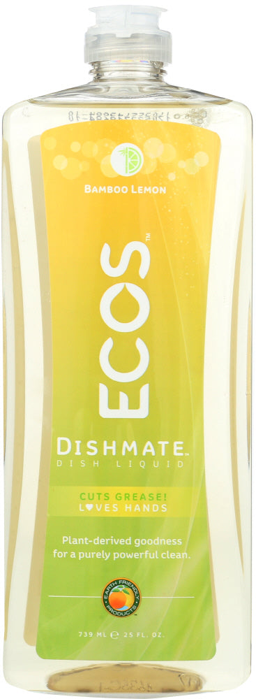EARTH FRIENDLY: Dishmate Bamboo Lemon Dishwashing Liquid, 25 oz