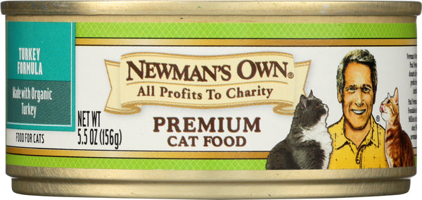 NEWMANS OWN ORGANIC: Cat Can Turkey Organic, 5.5 oz