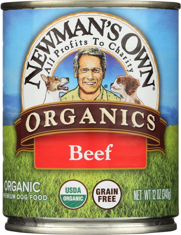 NEWMANS OWN ORGANIC: Dog Can Beef Organic, 12 oz