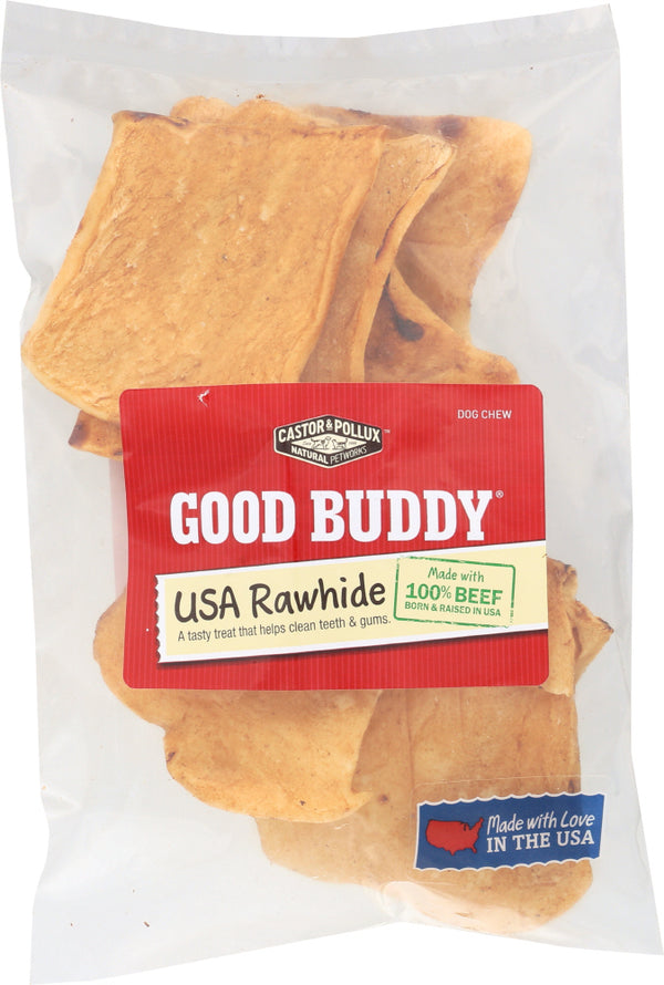 CASTOR AND POLLUX: Good Buddy Rawhide Chips Dog Chews, 4 oz