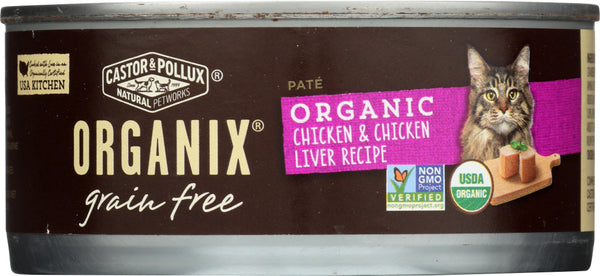 CASTOR & POLLUX: Cat Food Can Organic Chicken & Liver Pate , 5.5 oz