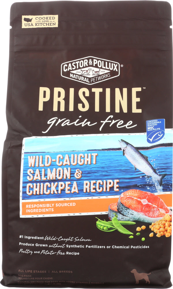 CASTOR & POLLUX: Pristine Grain Free Wild Caught Salmon & Chickpea Recipe 4 Lb