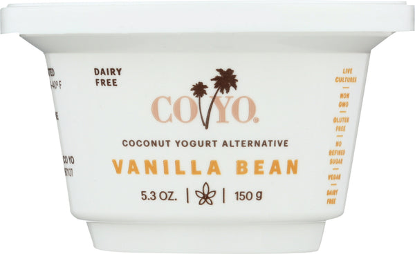 CO YO: Coconut Yogurt Alternative Vanilla Bean, 5.30 oz