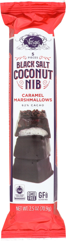 VOSGES HAUT: Black Salt Coconut Nib Caramel Marshmallows, 2.5 oz
