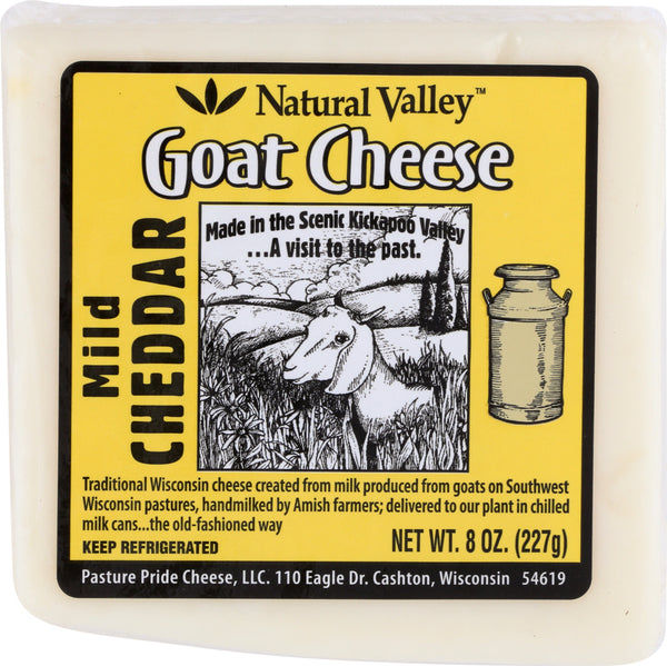 NATURAL VALLEY: Mild Cheddar Goat Cheese, 8 oz