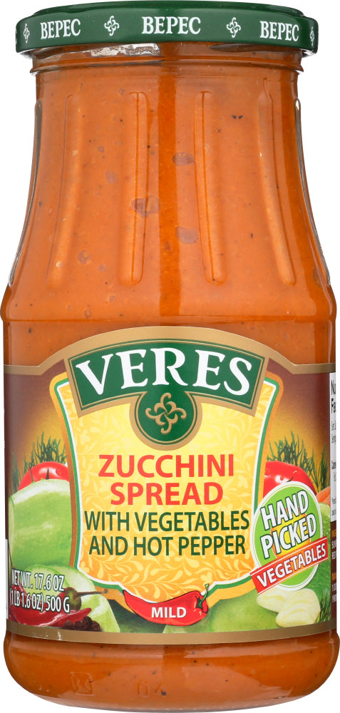 VERES: Zucchini Spread with Vegetables & Hot Pepper, 17.6 fl oz