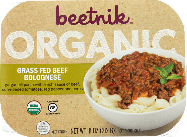 BEETNIK FOODS: Orgnic Grass Fed Beef Bolognese, 11 oz