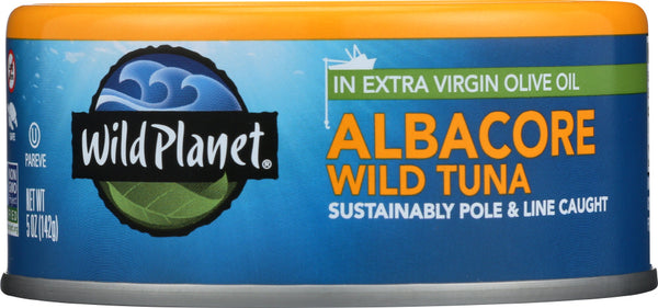 WILD PLANET: Wild Albacore Tuna in Extra Virgin Olive Oil, 5 oz