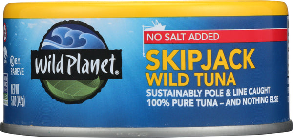 WILD PLANET: Tuna Wild Skipjack Light No Salt, 5 oz