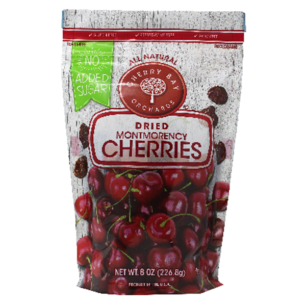CHERRY BAY ORCHARDS: Fruit Dried Tart Cherries, 8 oz