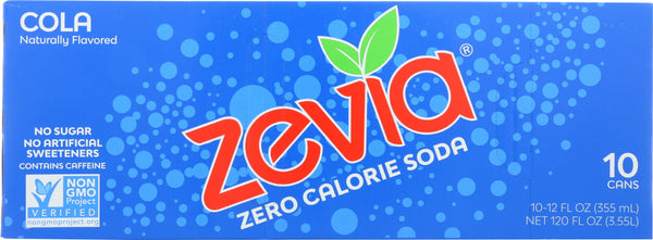 ZEVIA: Soda Cola 10 pk, 120 oz