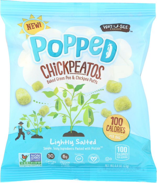 WATUSEE FOODS: Popped Chickpeatos Lightly Salted, 0.8 oz