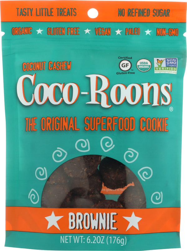WONDERFULLY RAW: Coco-Roons Brownie, 6.2 oz