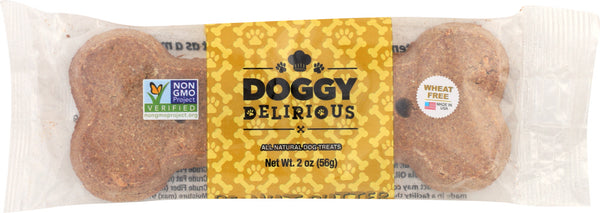 DOGGY DELIRIOUS: Dog Big Bone Peanut Butter, 2 oz