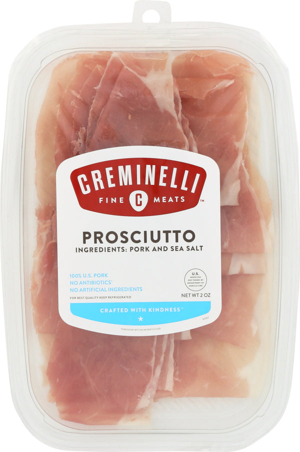 CREMINELLI FINE MEATS: Snack Sliced Prosciutto, 2 oz