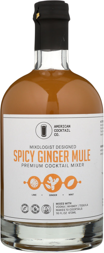 AMERICAN COCKTAIL COMPANY: Spicy Ginger Mule Mixer, 16 fo