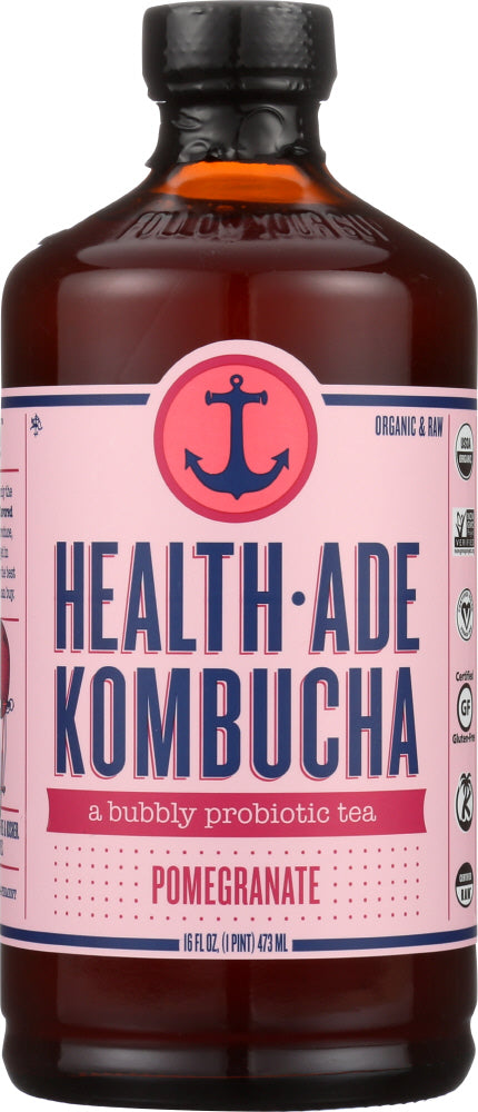 HEALTH ADE: Pomegranate Kombucha, 16 oz