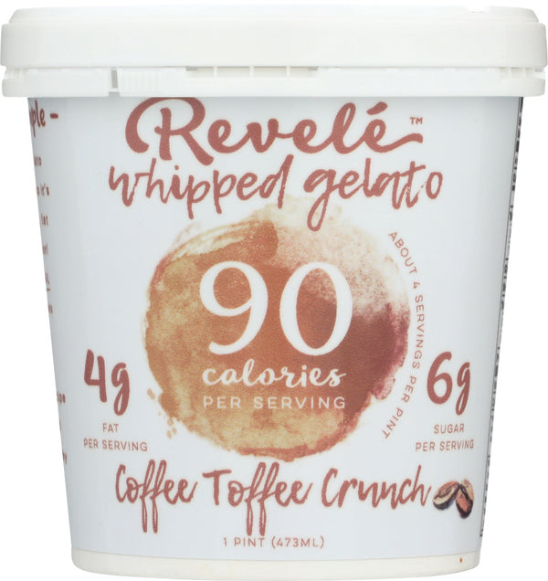 REVELE WHIPPED GELATO: Coffee Toffee Crunch, 16 oz