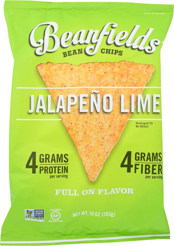 BEANFIELDS: Jalapeno Lime Bean Chips, 10 oz