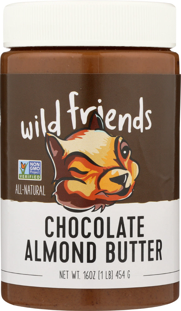 WILD FRIENDS: All Natural Chocolate Sunflower Seed Almond Butter, 16 oz