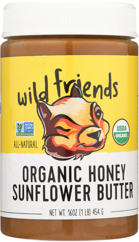 WILD FRIENDS: Organic Sunflower Butter Honey, 16 oz