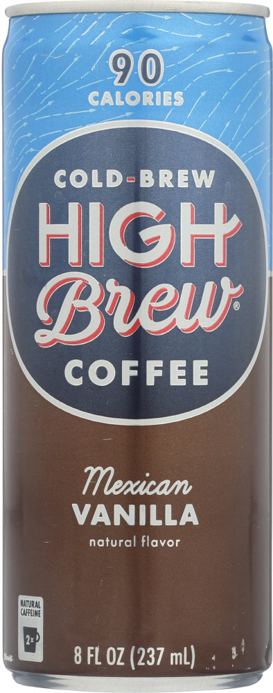 HIGH BREW: Cold-Brew Coffee Mexican Vanilla, 8 oz