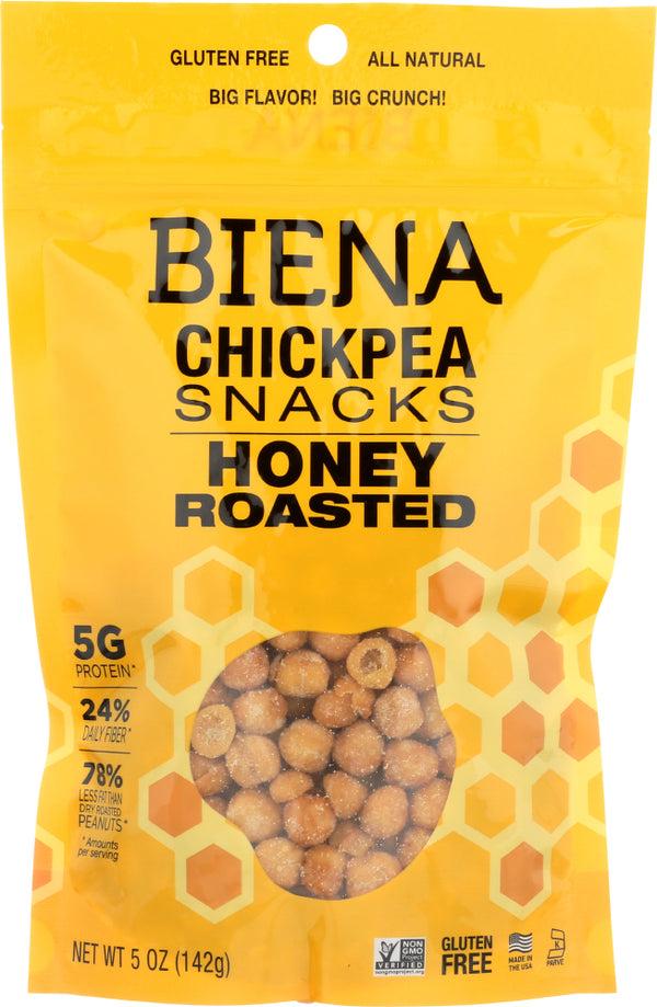 BIENA: Honey Roasted Chickpeas, 5 oz