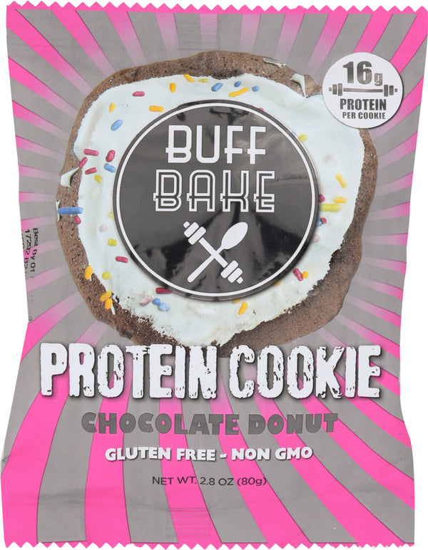 BUFF BAKE: Protein Cookie Chocolate Donut, 2.8 oz