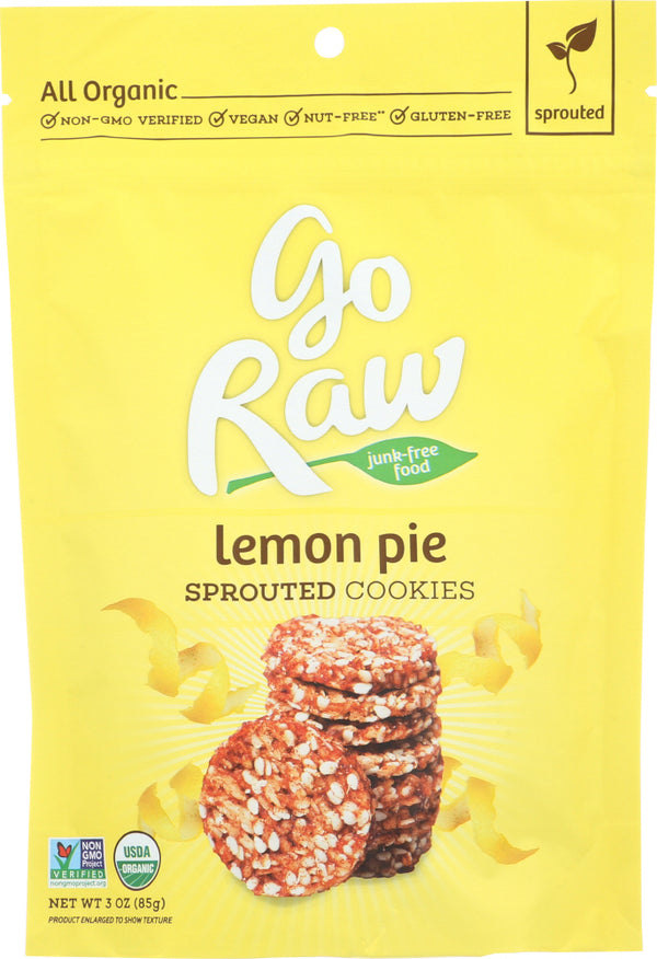 GO RAW: Cookie Lemon Pie Sprouted, 3 oz
