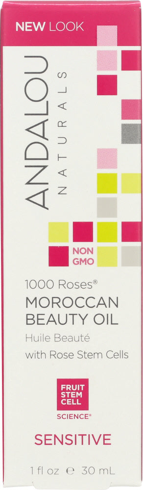 ANDALOU NATURALS: 1000 Roses Moroccan Beauty Oil Sensitive, 1 oz