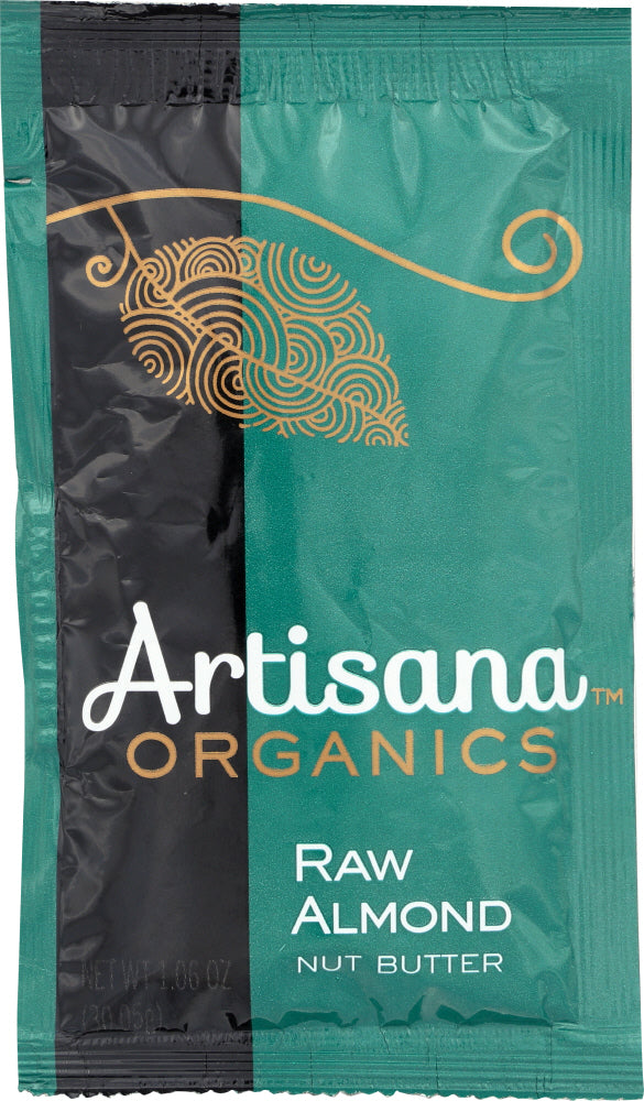 ARTISANA: Organic Raw Almond Butter Squeeze Pack, 1.06 oz