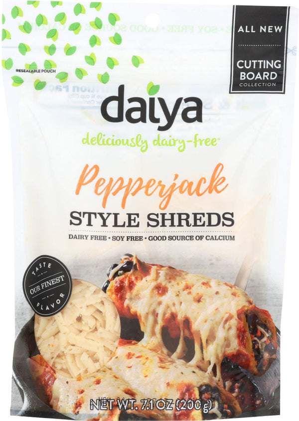 DAIYA: Pepperjack Style Cutting Board Shreds Cheese, 7.1 oz