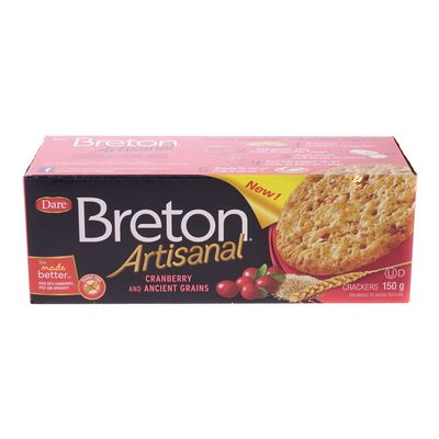 DARE: Breton Cranberry & Ancient Grains Artisanal Crackers, 5.29 oz