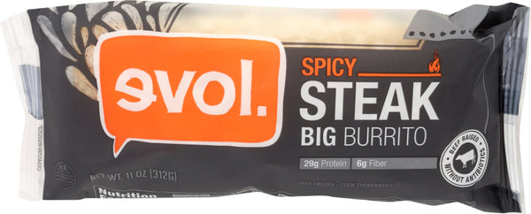 EVOL: Spicy Steak Burrito, 11 oz