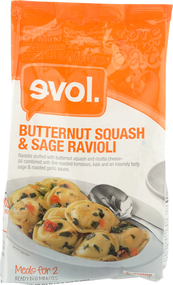 EVOL: Entree Butternut Squash and Sage Ravioli, 18 oz