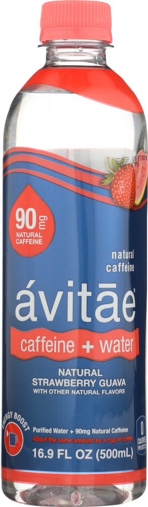 AVITAE: Water Caffeinated Strawberry, 16.9 fo