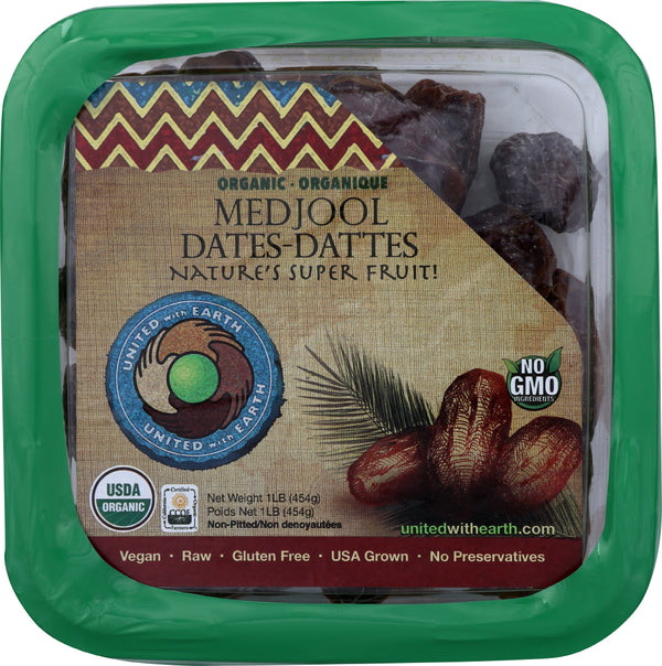 UNITED WITH EARTH: Organic Medjool Dates, 1 lb