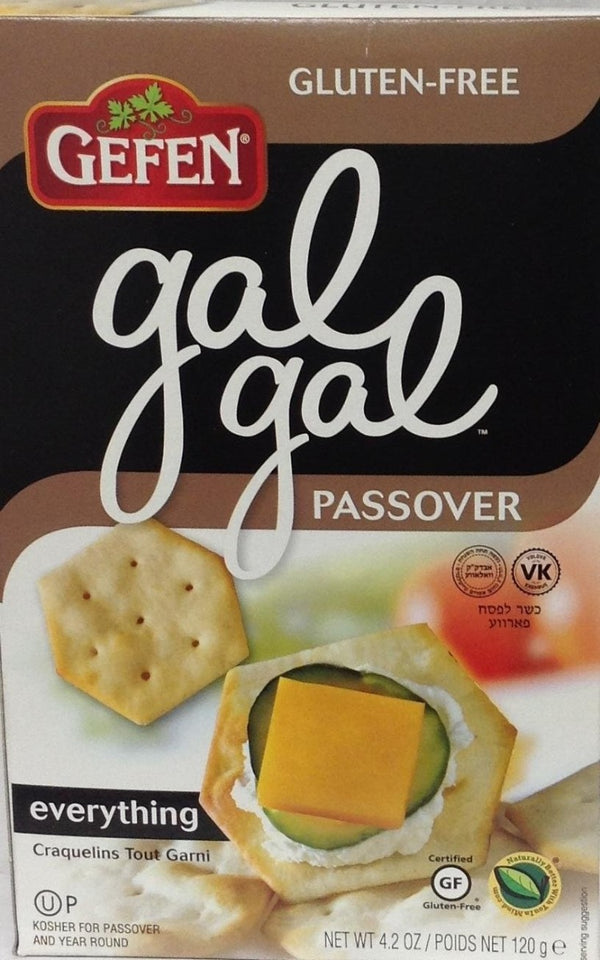 GEFEN: Gal Gal Passover Everything Crackers, 4.2 oz