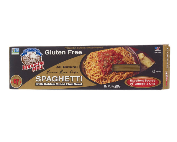 HODGSON MILL: Gluten Free Brown Rice Spaghetti with Golden Milled Flax Seed, 8 oz