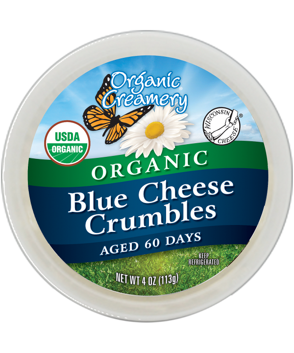 ORGANIC CREAMERY: Organic Blue Cheese Crumble, 4 oz
