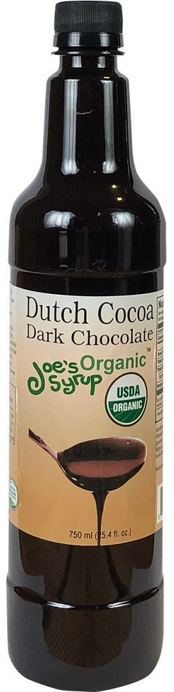 JOE'S SYRUP: Organic Dutch Cocoa Dark Chocolate Sauce, 25.40 oz