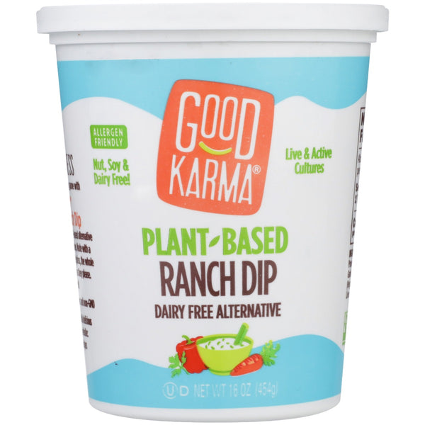 GOOD KARMA: Plant-Based Ranch Dip, 16 oz