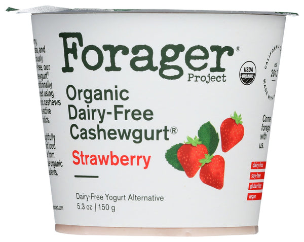FORAGER: Strawberry Organic Cashewgurt, 5.30 oz