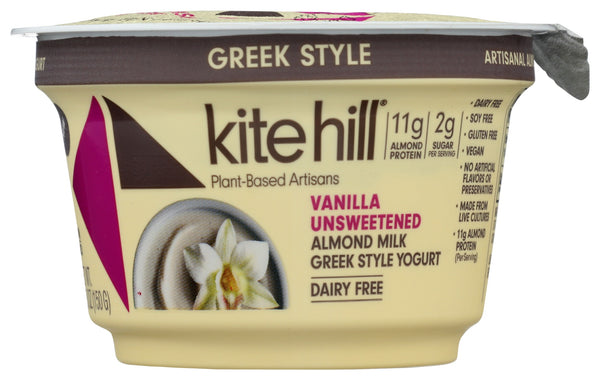 KITE HILL: Vanilla Unsweetened Greek Style Yogurt, 5.30 oz