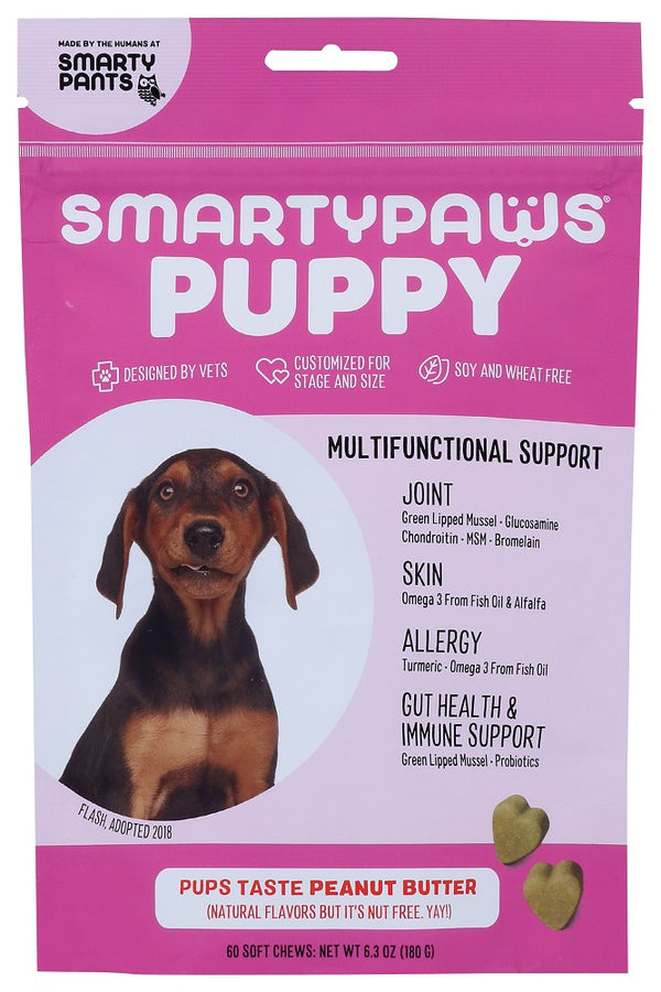 SMARTY PANTS: SmartyPaws Peanut Butter Puppy Formula, 60 pc