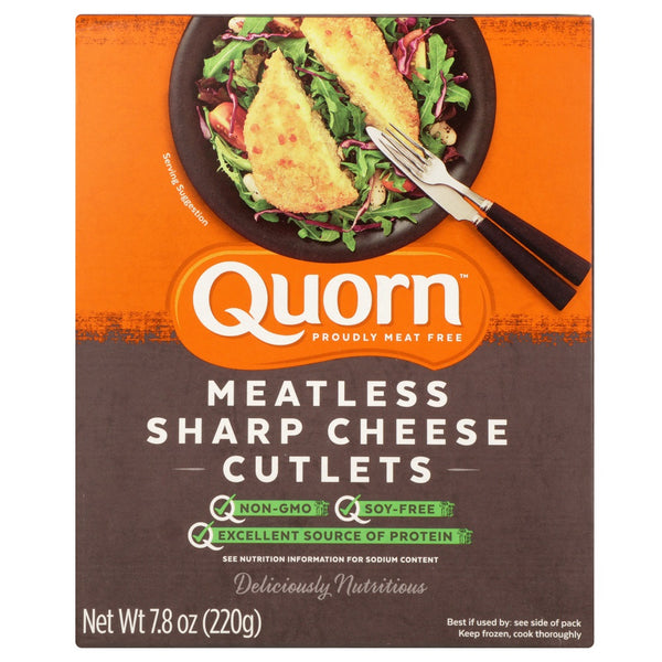 QUORN: Meatless Sharp Cheese Cutlets, 7.76 oz